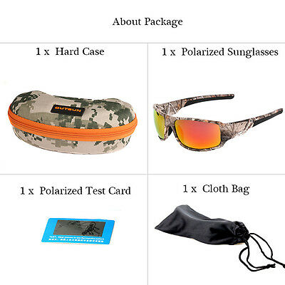 New Camouflage Pattern Polarized Fishing/hunting Glasses With Cloth & Case Etc*