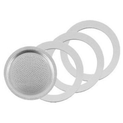 PEZZETTI RUBBER RINGS & FILTER REPLACEMENT for STOVE TOP COFFEE MAKER 1 3 6 CUP