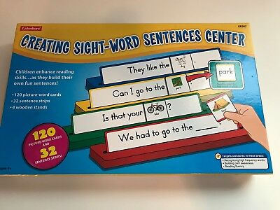 Lakeshore Creating Sight-Word Sentences Center for Teachers or Home Ages 4+