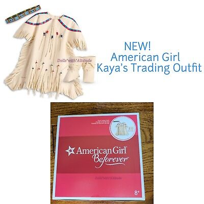 American Girl Kaya's Trading Outfit for 18in Doll NEW IN BOX White Boots