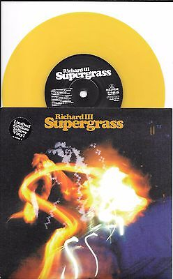 SUPERGRASS - Richard III - Nothing More - LTD EDITION YELLOW VINYL - R 6461 - NM