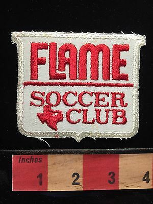 Collectible TEXAS Patch FLAME SOCCER CLUB 67VV