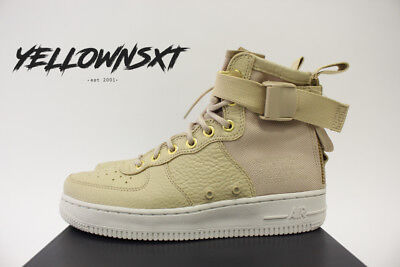 newest 4c916 d1ac3 Nike Womens Sf Af1 Air Force 1 Mid Sz 7 Mushroom Tan Light Bone Boot Aa3966