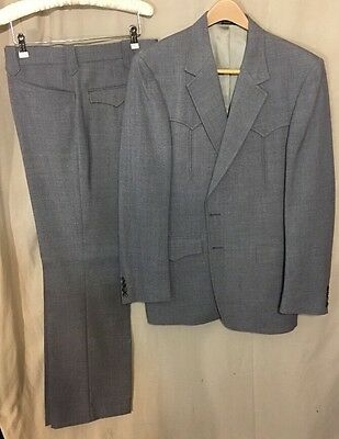Vintage Men's Riata Western Suit Grey Size 44