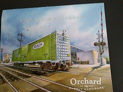 2017 Train pictrures calendar Orchard  8 1/2 x 12 1/2 inches