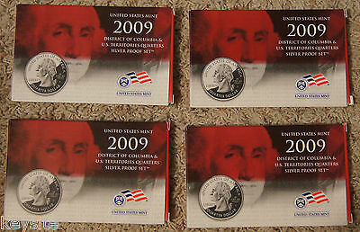 """2009 District Of Columbia &  Us Territories """"silver"""" Quarters Proof Set"""