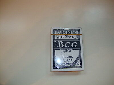 BCG -  Club Special Poker 92 Extra Selected Playing Cards-New Cellophane Wrapped