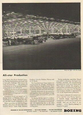 1944 WWII Boeing B-29 Superfortress Airplane Factory Ad MMXV