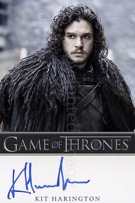 Kit Harington as Jon Snow From Game of Thrones Signed Autographed Photo
