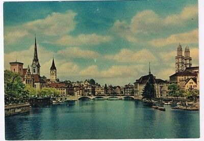 Switzerland Postcard Zurich Limmat River