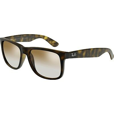 Ray-Ban Men's Polarized Justin RB4165-865/T5-55 Brown Rectangle Sunglasses