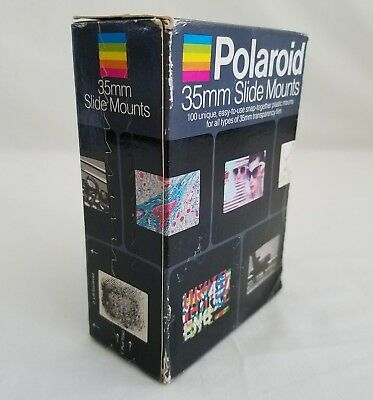 Polaroid 35mm Slide Mounts Caches 100 Count Plastic New Unopened Box