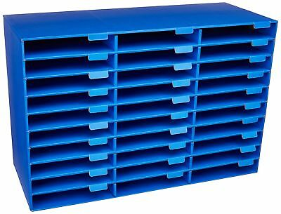 Office School Mail Box Sorter Desk Organizer 30 Slot Document File Paper Storage
