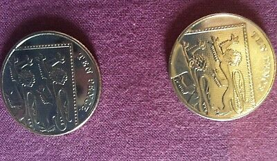 Rare error 10p pence coin.Errors on both sides.