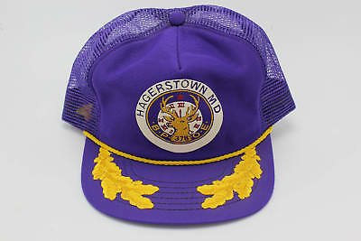 Vintage HAGERSTOWN MARYLAND Embroidered Snapback Trucker Hat