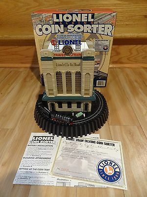 LIONEL TALKING COIN SORTER with ORIGINAL BOX, INSTRUCTIONS & CERTIFICATE - WORKS