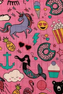 Tula Stickers Print Blanket with Bag Sold Out Bamboo Swaddle Unicorns Mermaids