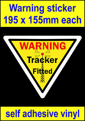 GPS tracker fitted sticker car truck lorry van bus sign bumper toolbox decal
