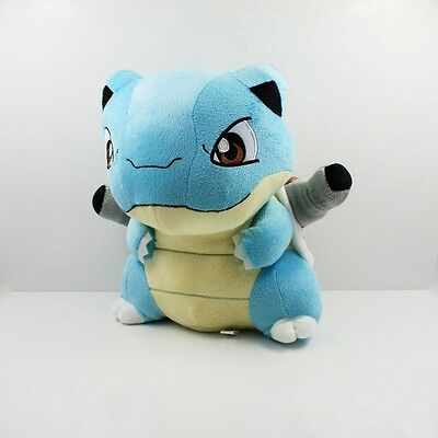 "7""  Turtle Pokemon Blastoise Plush Animati Toy Stuffed Doll Figure Kids Gift00"