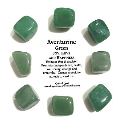 *1* AVENTURINE GREEN Natural Tumbled Stone / Tumble Stone *TRUSTED SELLER*
