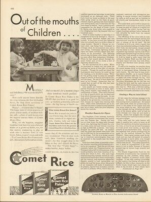 1929 Comet Rice Franklin St New York City NY Cereal Vintage Breakfast Food Ad