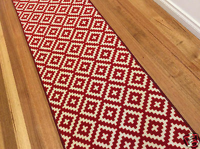 Hallway Runner Hall Runner Rug Modern Red 7 Metres Long FREE DELIVERY