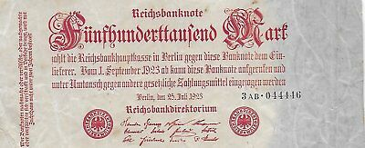 1923 German Vintage Bank Note  !!! FREE SHIP Canada and USA !!!