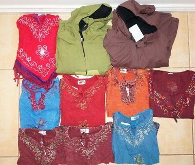 Kids clothes market stall wholesale mixed set Tibetan hippy poncho jackets tops