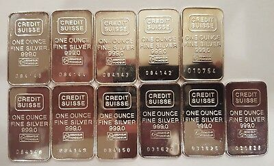 Credit Suisse 1 oz silver bars