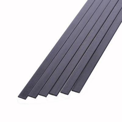5x 10mm x 1mm x 800mm Pultruded Carbon Fibre Strips (S101)
