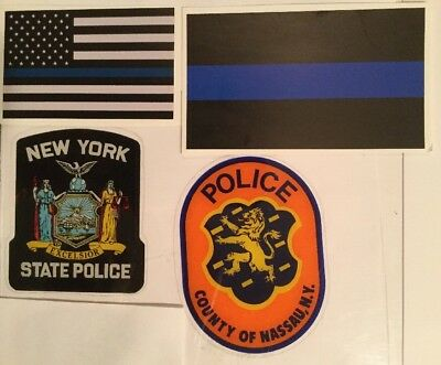 NYS Nassau County+ NY State Police InWindshield+2Blue line Skr **See Choice In D
