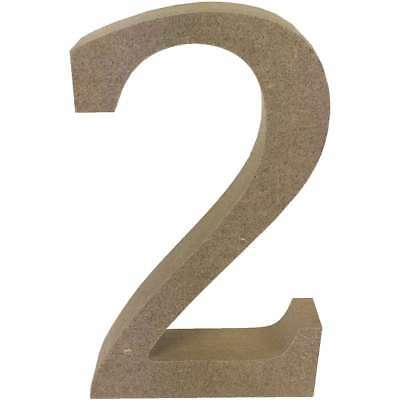 Smooth MDF Blank Shape Serif Number 2 499993366505