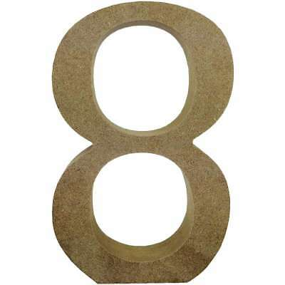Smooth MDF Blank Shape Serif Number 8 499993366598