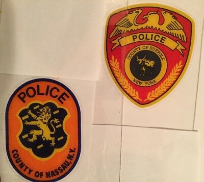 """NYS NY Suffolk County & NY State Police """"Real"""" InWindshield Decals *See Others"""