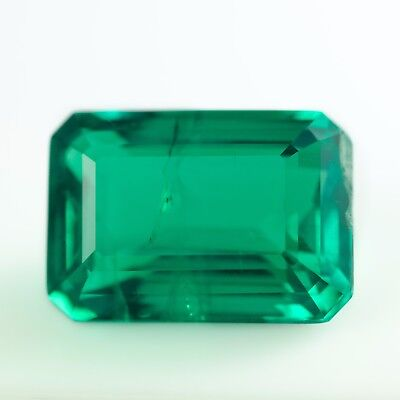 7.59ct Hydrothermal Colombian Emerald Lab Created Loose Stone