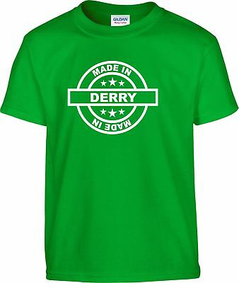 Derry Made In T-Shirt All Sizes - Ireland Eire Football Ulster Irish Londonderry
