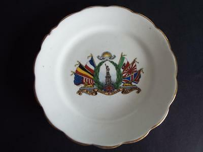 End Of Wwi Commemorative Plate - Might In The Right Cause Has Prevailed -Victory