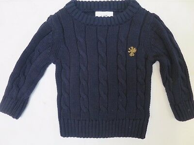 Boys Jumper knitwear NEXT cable knit navy 3 6 9 12 18 monts NEW!