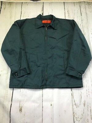 Red Kap Men's Work Jackets Spruce Green Industrial Uniform Perma-Lined Panel JT5