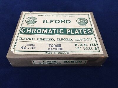 Ilford Chromatic Plates 7096E Backed 12 Plate Unopened Still Sealed