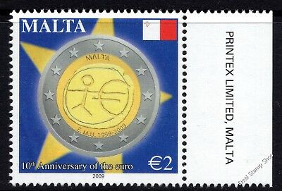 Malta 2009 10th Anniversary of the Euro Complete Set SG1619 Unmounted Mint