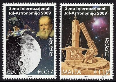 Malta 2009 Europa Astronomy Complete Set SG1620 - 21 Unmounted Mint