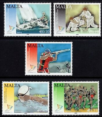 Malta 2009 Games of Small States Europe Complete Set SG1622 - 6 Unmounted Mint