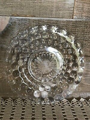 Depression Glass Clear Bubble Glass Plate Vintage