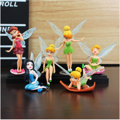 High Quality PVC 6pcs Tinkerbell Fairy Adorable tinker bell Figures