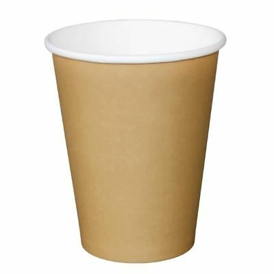 Olympia Disposable Brown Hot Cups Paper Drinks Party Restaurant Tableware