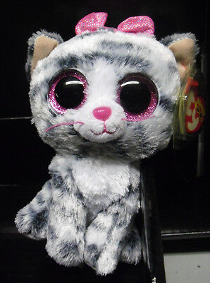 w-f-l Ty BOOS WILLOW Greyish Cat Exclusive Glubschi RARE