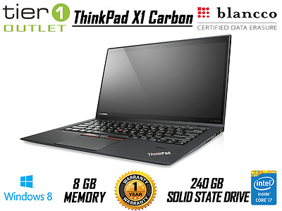 Lenovo ThinkPad X1 Carbon - Core i7-3667U 240GB SSD Pro Ultrabook Win 8.1 Pro