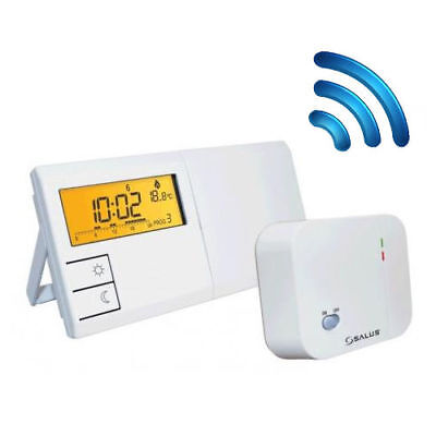 SALUS 091FLRF Wireless Raumthermostat LCD