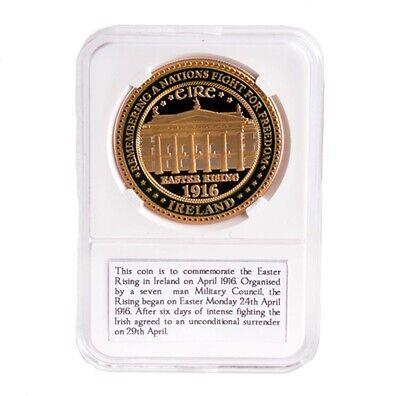 1916 Easter Rising Commemoration Token With Image Of GPO, In Plastic Box